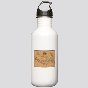 Vintage Map of Nantuck Stainless Water Bottle 1.0L