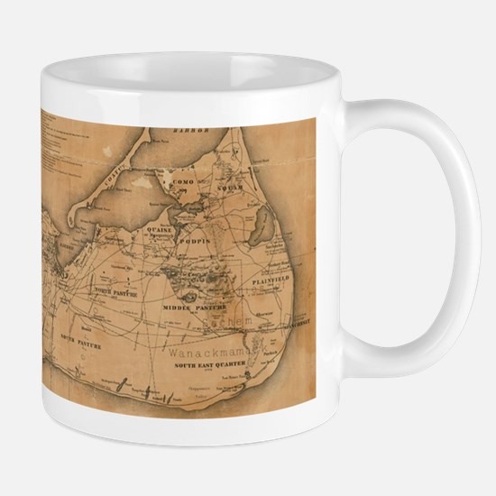 Vintage Map of Nantucket (1869) Mugs