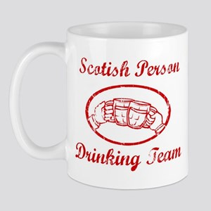 Scotish Person Drinking Team Mug