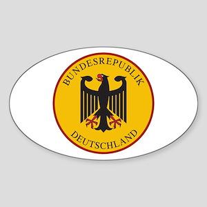 Bundesrepublik Deutschland, Germany Sticker (Oval)