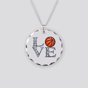 Love Basketball Necklace Circle Charm