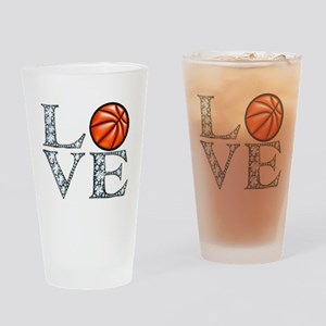 Love Basketball Drinking Glass