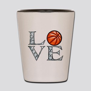 Love Basketball Shot Glass