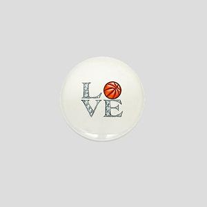 Love Basketball Mini Button
