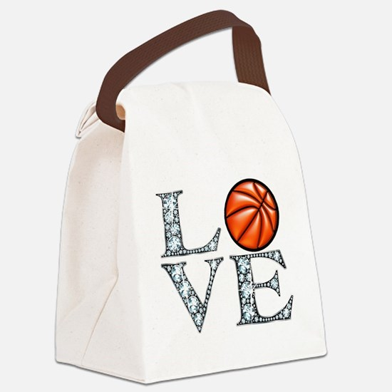 Love Basketball Canvas Lunch Bag