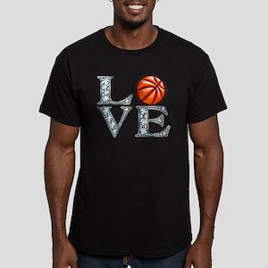 Love Basketball Men's Fitted T-Shirt (dark)