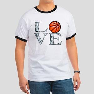 Love Basketball Ringer T