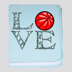 Love Basketball baby blanket