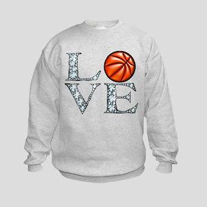 Love Basketball Kids Sweatshirt