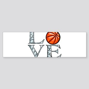 Love Basketball Bumper Sticker