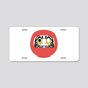 Japanese Daruma Doll Aluminum License Plate