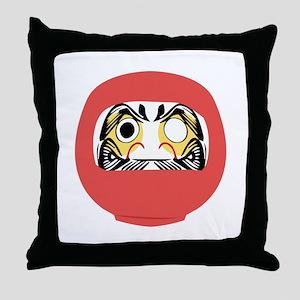 Japanese Daruma Doll Throw Pillow