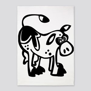 Silly Cow 5'x7'area Rug