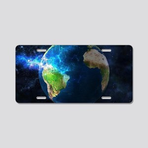 Planet Earth Aluminum License Plate