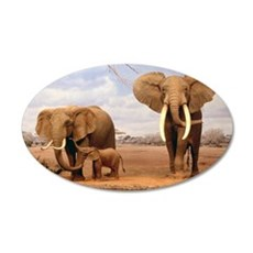 Family Of Elephants Wall Decal