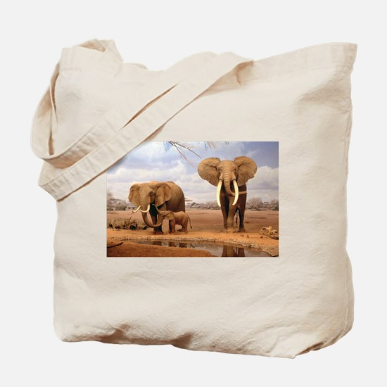 Family Of Elephants Tote Bag