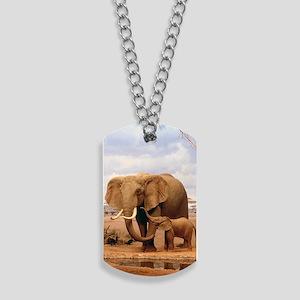 Family Of Elephants Dog Tags