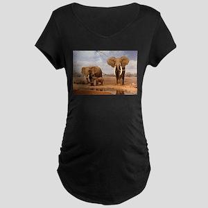 Family Of Elephants Maternity T-Shirt