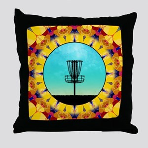 Disc Golf Abstract Basket 4 Throw Pillow