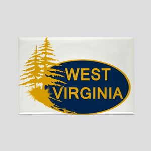 WVU Rectangle Magnet