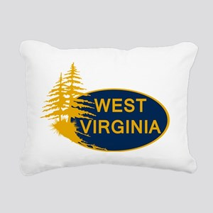 WVU Rectangular Canvas Pillow