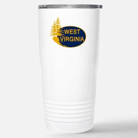 WVU Stainless Steel Travel Mug