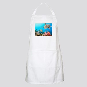 Turtle and Fishes Under Water Apron