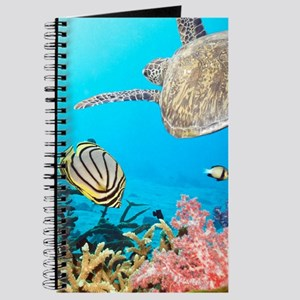 Turtle and Fishes Under Water Journal
