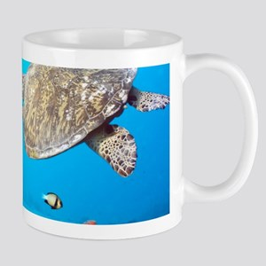 Turtle and Fishes Under Water Mugs