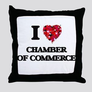 I love Chamber Of Commerce Throw Pillow