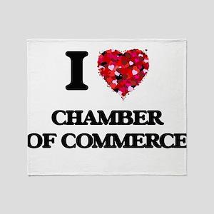 I love Chamber Of Commerce Throw Blanket
