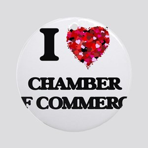 I love Chamber Of Commerce Ornament (Round)