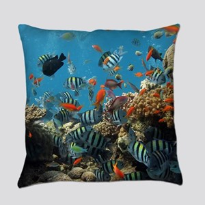 Fishes and Underwater Plants Everyday Pillow