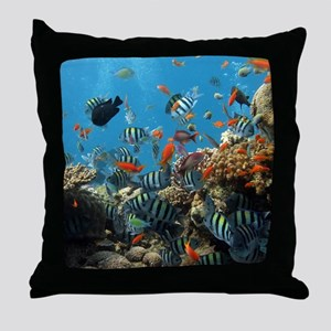 Fishes and Underwater Plants Throw Pillow