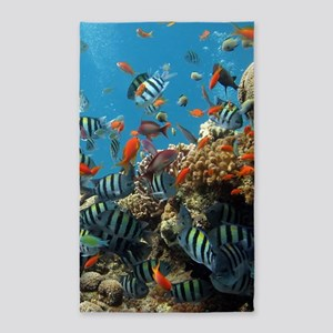 Fishes and Underwater Plants Area Rug