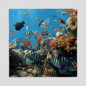 Fishes and Underwater Plants Queen Duvet
