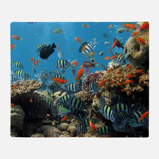Fishes and Underwater Plants Throw Blanket