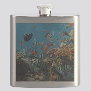 Fishes and Underwater Plants Flask