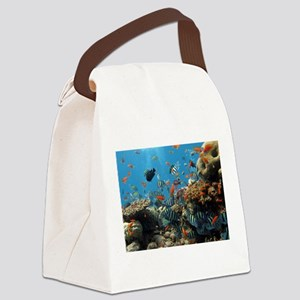 Fishes and Underwater Plants Canvas Lunch Bag