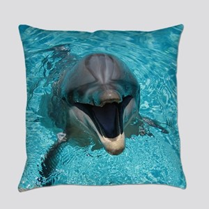 Smiling Dolphin Everyday Pillow