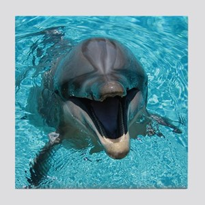Smiling Dolphin Tile Coaster