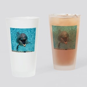 Smiling Dolphin Drinking Glass