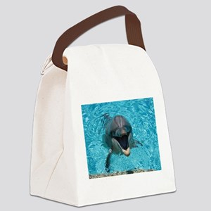 Smiling Dolphin Canvas Lunch Bag