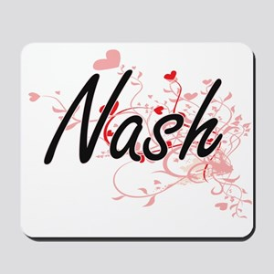 Nash Artistic Design with Hearts Mousepad