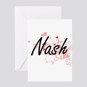 Nash Artistic Design with Hearts Greeting Cards