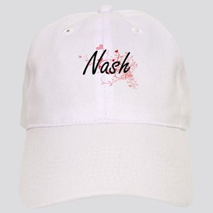 Nash Artistic Design with Hearts Cap