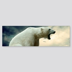 Polar Bear Roaring Bumper Sticker