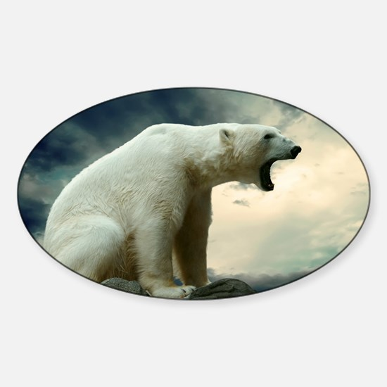 Polar Bear Roaring Decal