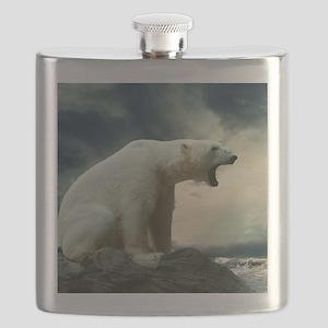 Polar Bear Roaring Flask