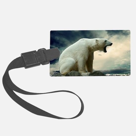 Polar Bear Roaring Luggage Tag